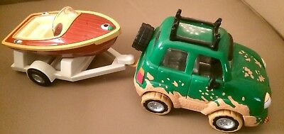 Chevron Cars Freddy The 4 Wheeler With Trailer & Boat 1999