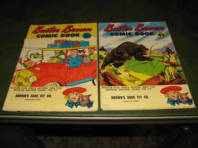 Buster Brown Comic Book #39 & #43 1950's Promotional Giveaway Advertising VG Lot