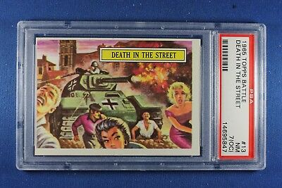 1965 Topps Battle Cards - #13 Death In The Street - PSA NM - 7