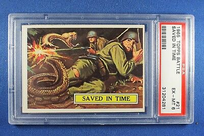 1965 Topps Battle Cards - #21 Saved In Time - PSA Ex-Mt 6