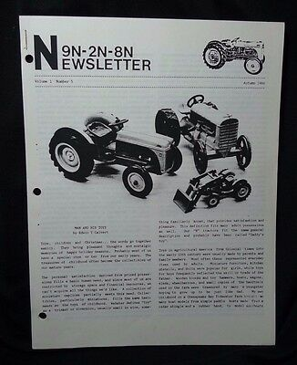Ford Tractor 9N-2N-8N Newsletter Volume 1 Number 5 Autumn 1986