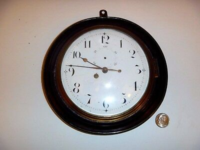 "Rare Cousens London Sedan Chair Carriage Clock Watch 6"" Wide Large Dial C.1830"