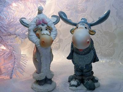 "Rare! Dreamsicles Northern Lights ""miss Starlight"" & ""bully Moose"" Set 2"