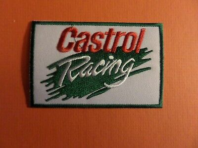 CASTROL RACING GREEN & SILVER & RED   Embroidered 2-3/8 x 3-5/8 Iron On PATCH