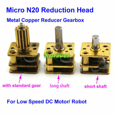 Micro Full Metal Gearbox Reducer Metal Copper Gear Reduction Head DIY N20 Motor
