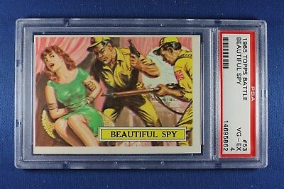 1965 Topps Battle Cards - #53 Beautiful Spy - PSA VG-Ex 4