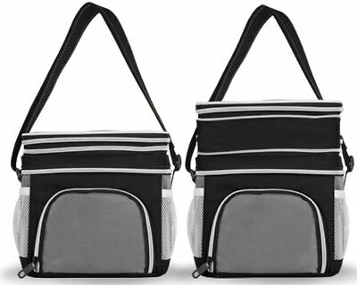 EAGLEMATE Expandable Double Lunch Cooler Bag Great For School,Works