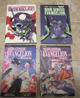 NEW 4 volumes 5 2 1 2 Evangelion Manga anime movie book Tribute Parody Rei Asuka