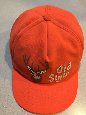 Old Style beer hunting vintage orange snapback truckers cap hat
