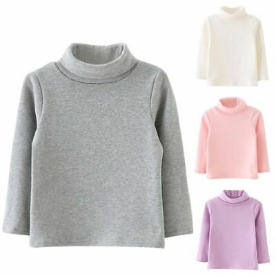 Girls Turtle Roll Neck Chunky Knitted Oversized Sweater Jumper Tops Long Outwear