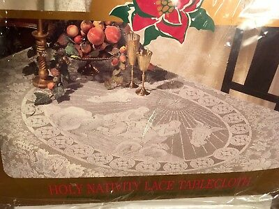 Christmas Holy Nativity Lace Tablecloth