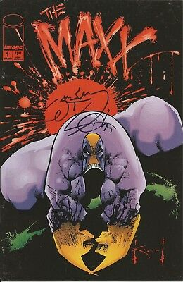 The Maxx #1 SIGNED by William Messner Loeb!!!  COA included!!