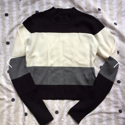 Cropped sweater size small