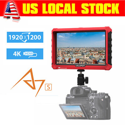 """7"""" IPS 4K Camera Field Monitor Cam Mate HD LCD DSLR HDMI 1920x1200 For Cam Video"""
