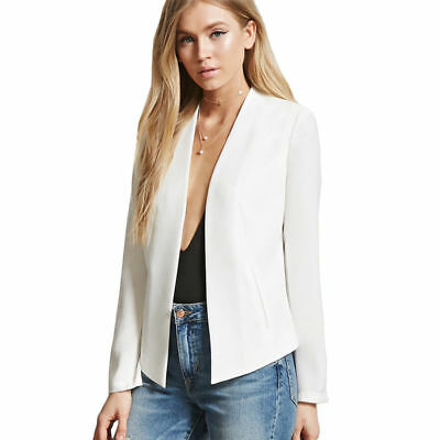 Women Lady Fashion Business Long Sleeve Blazers Suits Casual Jacket Outwear