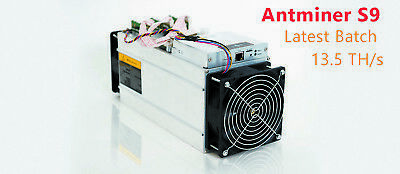 BRAND NEW/UNOPENED ANTMINER S9 13.5 TH/s  Preorder ~End of JAN~ FAST-SHIPPING