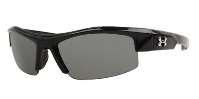 Under Armour Nitro Sunglasses - Youth - Shiny Black / Gray 8600047-008801 - NEW