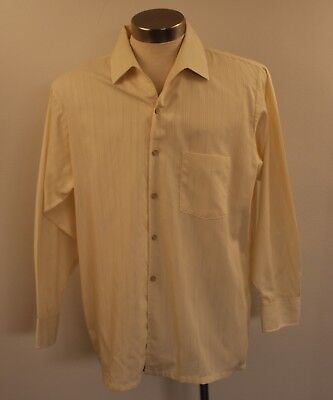 "X LARGE ORIGINAL VINTAGE MENS CREAM 1970s SHIRT. ""PELACO SILKARA"""