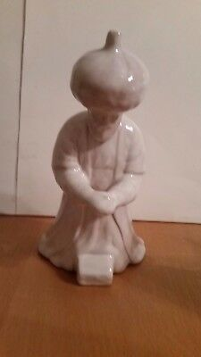 Frankoma Nativity White Kneeling Wise Man with Folded Hands Mint
