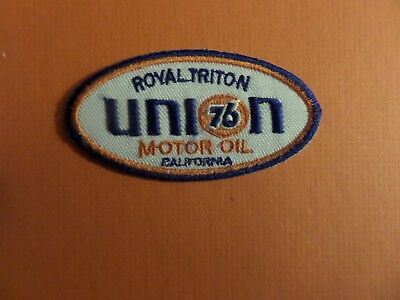 UNION 76 BLUE & BLUE & ORANGE   Embroidered 1-3/4 x 3-1/4 Iron On PATCH