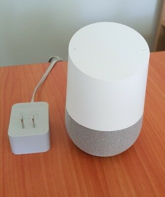 GOOGLE HOME SMART SPEAKER PERSONAL ASSISTANT VOICE ACTIVATED *USED, US Power Su*