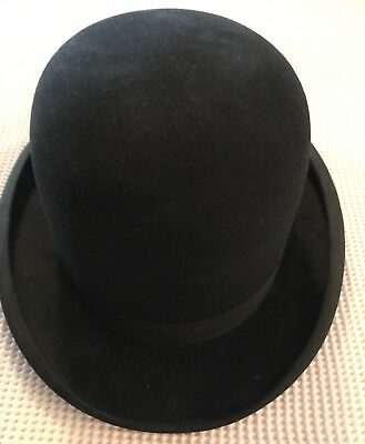 Vintage Derby Bowler 1940's by Mallory New York Hat Size 7