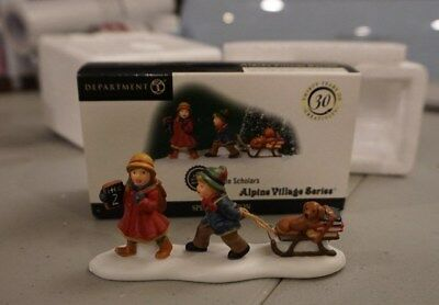 DEPT 56 ALPINE VILLAGE Accessory LITTLE SCHOLARS 563118 limited special edition