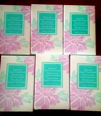 AVON PERFUMED LIQUID DEODORANT ORIGINAL SCENT (LOT OF 6) 2 FL OZ fresh stock.