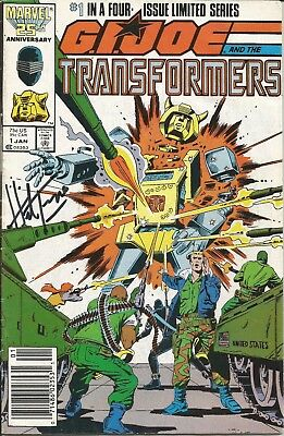 G. I. Joe and the Transformers #1 SIGNED by Herb Trimpe!!!  With C.O.A.!!