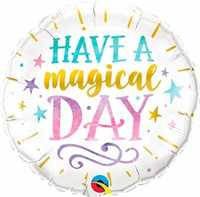 Qualatex 57262Round Birthday have a magical Day palloncino in lattice, (A1T)
