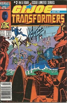 G. I. Joe and the Transformers #2 SIGNED by Herb Trimpe!!!  With C.O.A.!!
