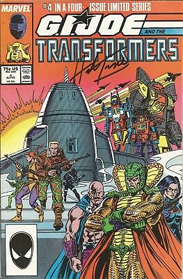 G. I. Joe and the Transformers #4 SIGNED by Herb Trimpe!!!  With C.O.A.!!