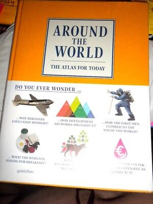 Around the World : The Atlas for Today (2013, Hardcover) SEALED NEW FAST SHIP