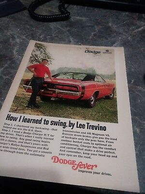 dodge ad charger 69 1969 70 poster vintage photo 440 426 hemi rt