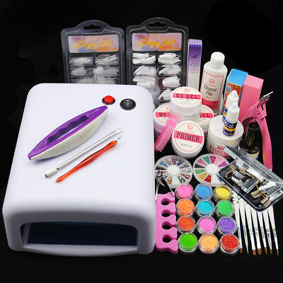 Nagelstudio Set UV Gel Set Nagelset Starterset Nagelfräser UV Gel Kit 36W