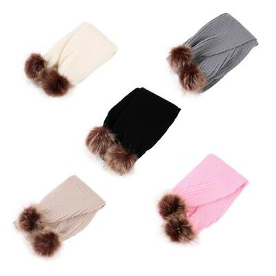US Kid Boy Girl Pom Pom Scarf Baby Baby Winter Warm Knitted Wrap Scarves Shawl