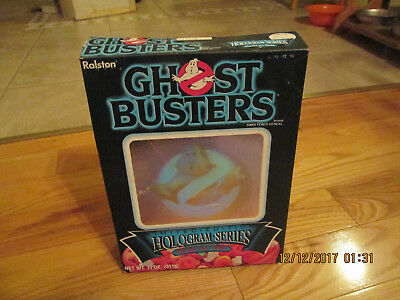 1986 Ralston Ghostbusters Empty Cereal Box