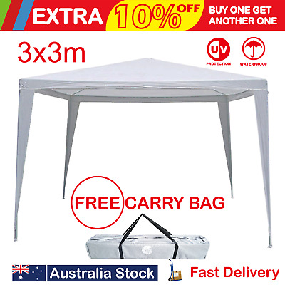 3x3m  gazebo outdoor garden camp party white shelter canopy marquee tent