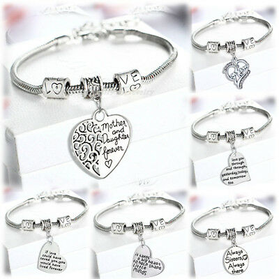 Gifts For Mother Grandma Sister Best Friends Silver Bracelet Jewelry Presents