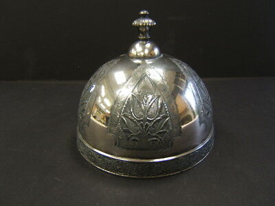 Silver Plate Dome For Antique Butter Dish, 5 1/8 Inch Diameter