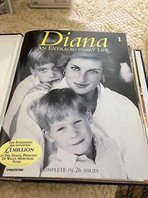 Princess Diana official tribute 26 magazines an extraordinary life & Videos