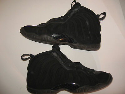 Nike Air Foamposite Black Suede Youth Size 7