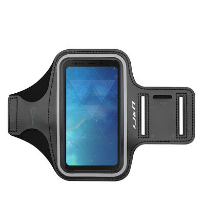 J&D Samsung Galaxy S8 Active Sport Armband with Keyholder Slot/Earphone Openings