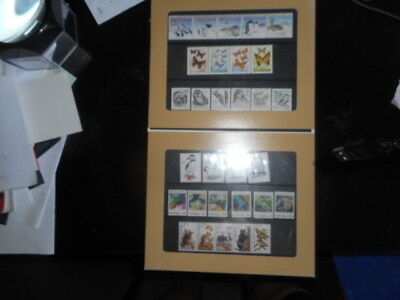 stamps world animal etc collection x 30 [includes display]