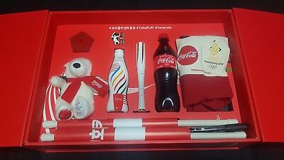 2018 PyeongChang Olympic Coca Cola Limited Edition Olympic Torch Full Set