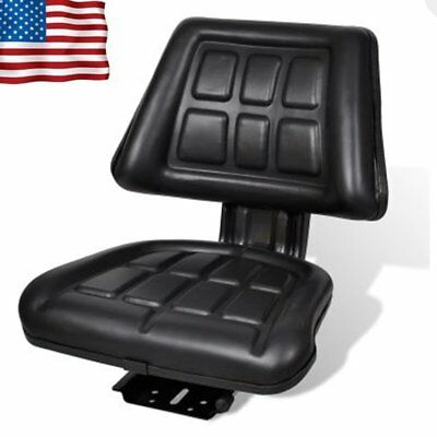 Universal Black Tractor Seat Backrest Excavator Chair Track Compact Mower Seat