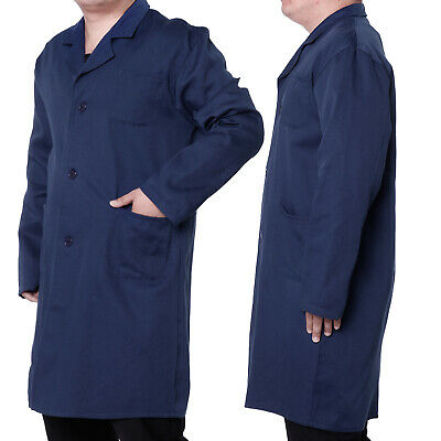 Blue Lab Coat Jacket Doctor Hospital Warehouse Food Medical Workwear