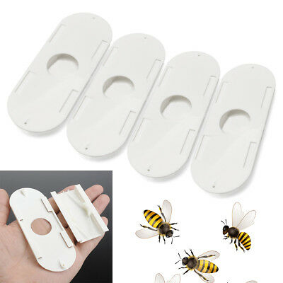 4Pcs Plastic Porter Bee Escapes Beekeepers Beekeeping Hive Useful Tools White