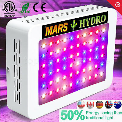 Mars 300W LED Grow Light Panel Full Spectrum Indoor Hydroponic Veg Bloom Garden