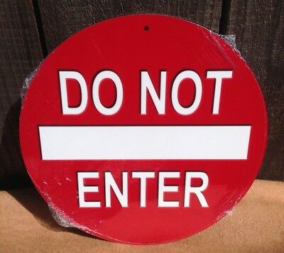 """Do Not Enter Xbox Gaming In Progress 12/"""" Round Metal Sign Novelty Man Cave Decor"""